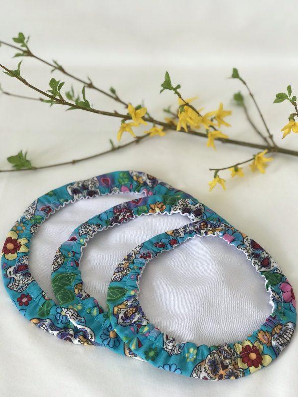 Mila's Reusable Bowl Covers set of 3 -Sugar skulls turquoise - 06790575 D046 4D9B B9D2 C80E2F73C70D