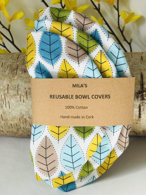 Mila's Reusable Bowl Covers set of 3 -Spring leaves - 0CEB3CD2 0653 488F 84D4 4B9774C697B8