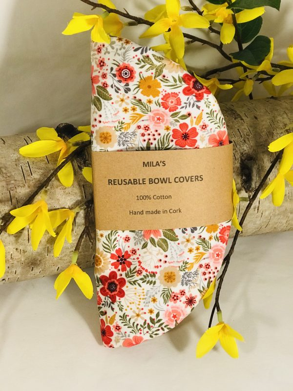 Mila's Reusable Bowl Covers set of 3 Floral - 0E5905BB 34CC 4173 994E 9EC0F8495936