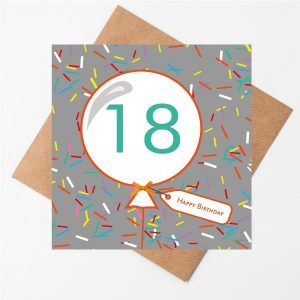 18th Sprinkles Birthday Card