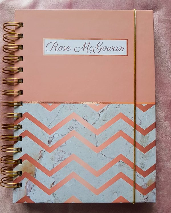 Rose Gold Personalised Planner Diary Journal - 20201024 094024