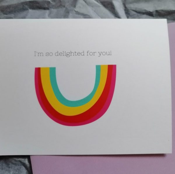 I'm so delighted for you Greeting Card