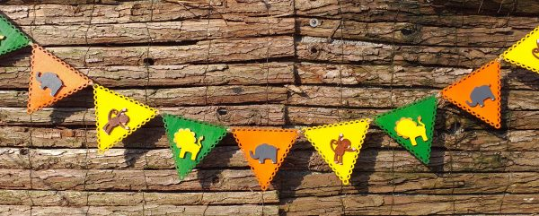 Wooden Jungle Bunting