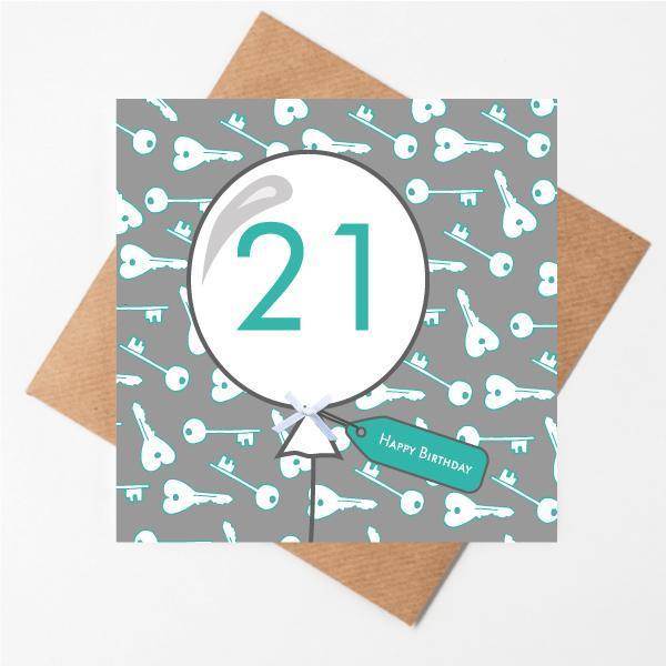 21st Key Birthday Card