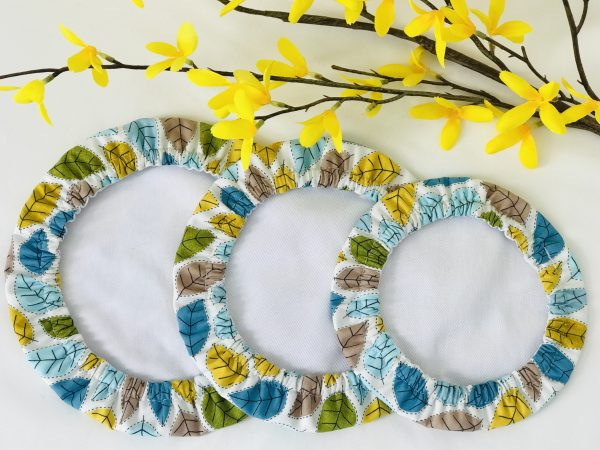 Mila's Reusable Bowl Covers set of 3 -Spring leaves - 257CD2E4 409F 4A72 A308 3591F57B84CB