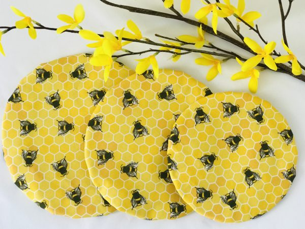 Mila's Reusable Bowl Covers set of 3 -Bees yellow - 259380EB 7840 459F A646 AF6E1A6784CD
