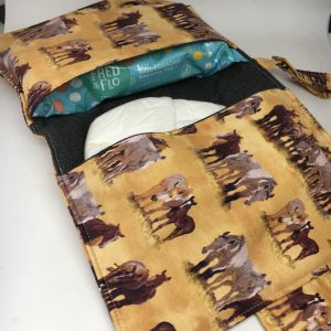 Nappy and Wipes Wallet horse brown