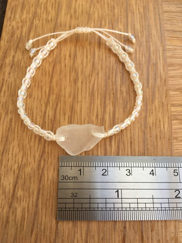 Frosted Sea Glass Macrame Bracelet - 29EADC0C 7A02 4357 9669 AA6DD13A699F rotated