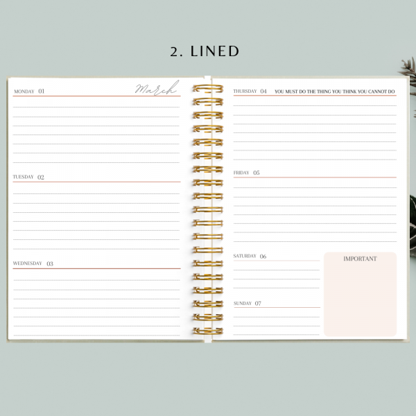 Nude Ginkgo Personalised Planner Diary Journal - 45 1