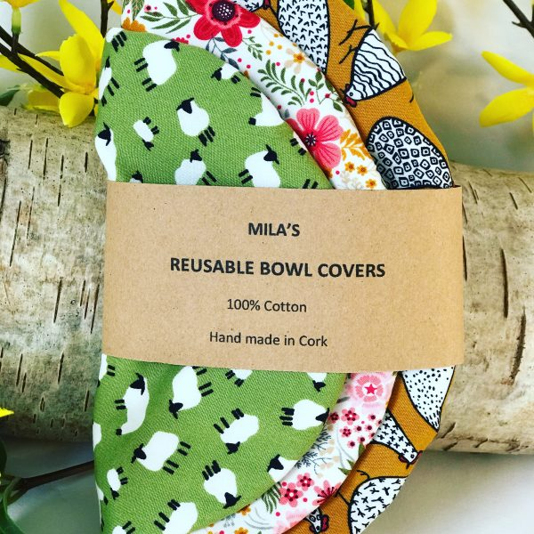 Mila's Reusable Bowl Covers set of 3 -Chickens/Floral/Sheep - 46788D76 0190 4D74 8ACC 155787E838B6