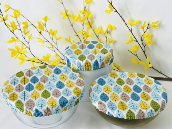 Mila's Reusable Bowl Covers set of 3 -Spring leaves