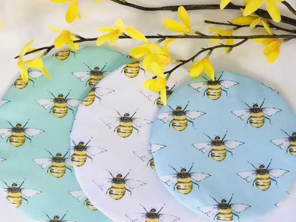 Mila's Reusable Bowl Covers set of 3 -Bees mint/Bees white/Bees sky blue - 56AA67F2 3BBB 4C3D 9593 A488AE628FEC