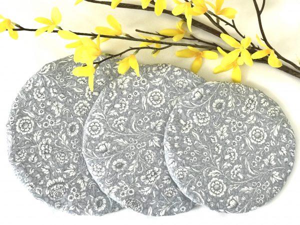Mila's Reusable Bowl Covers set of 3 -Floral grey/Yellow dots/Pink dots - 5CBC8C6E 8B76 4B4F 8A62 3B1DE227325B