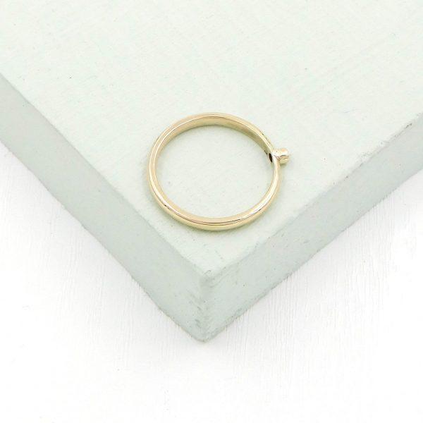 Gold ring angle shot