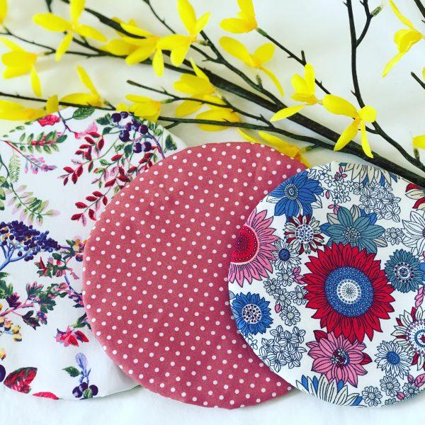 Mila's Reusable Bowl Covers set of 3 -Berries/Dot/Floral blue - 61C9ED22 9A58 428D BB23 45A4983162D5