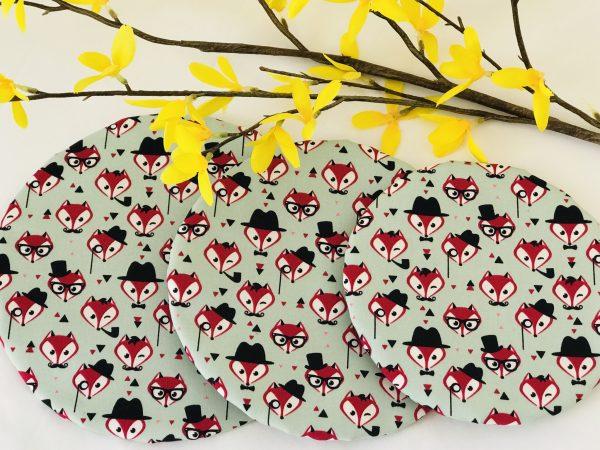 Mila's Reusable Bowl Covers set of 3 -Foxes - 66E49B64 8553 42F8 921B D244B08F62D5