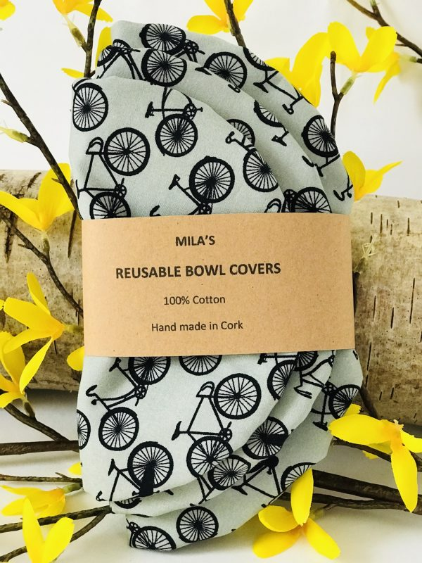 Mila's Reusable Bowl Covers set of 3 -Bicycles - 683CF444 5633 4FA3 B586 2A96A57BED34