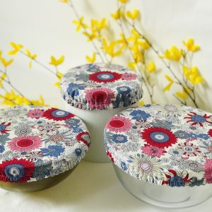 Mila's Reusable Bowl Covers set of 3 Floral Blue