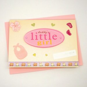 Handmade Baby Girl Card - 718