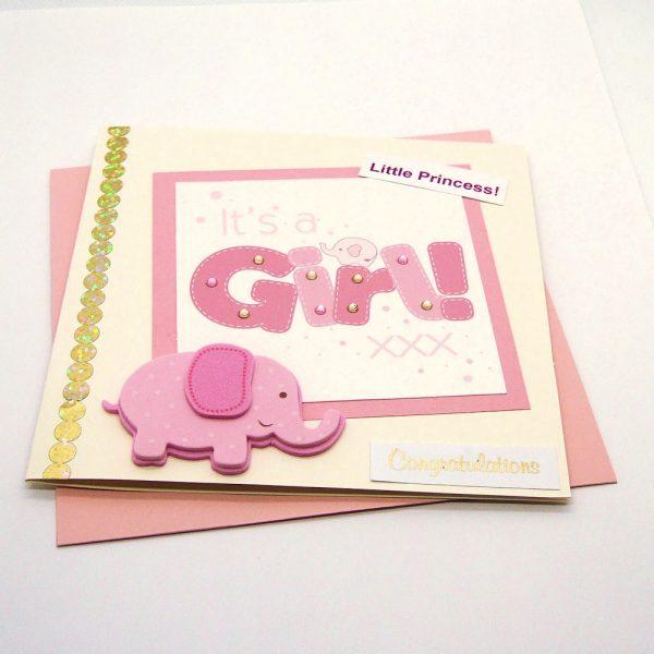Handmade Baby Girl Card - 740 - 740a