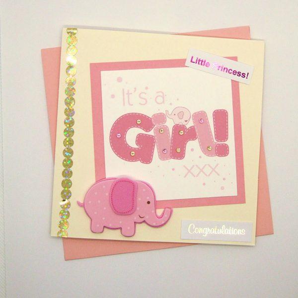 Handmade Baby Girl Card - 740