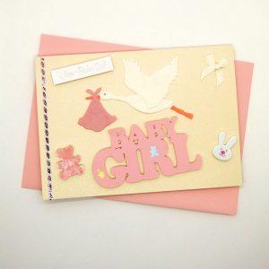 Handmade Baby Girl Card - 743