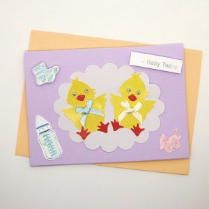 Handmade 'Baby twins' Card - 744