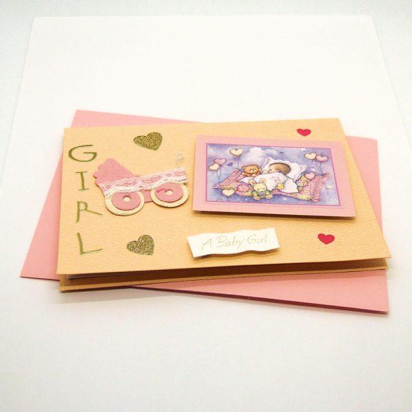 Handmade Baby Girl Card - 745 - 745a