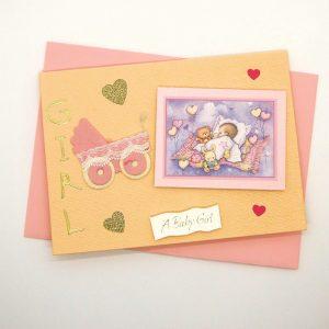 Handmade Baby Girl Card - 745