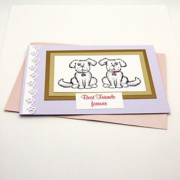 """Handmade """"Best friends"""" Card - 750 - 750a"""
