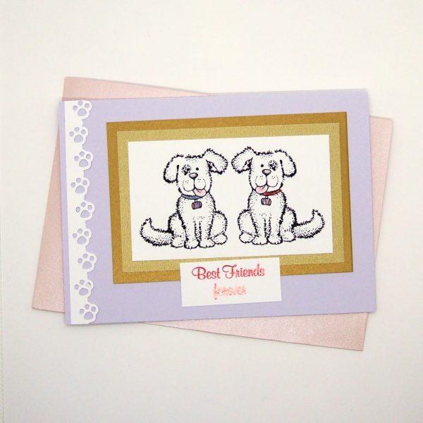 """Handmade """"Best friends"""" Card - 750"""