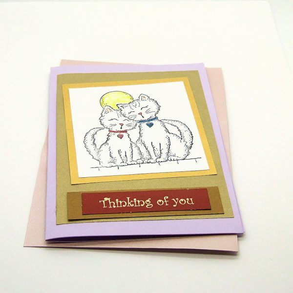 "Handmade ""Thinking of You"" Card - 753 - 753a"
