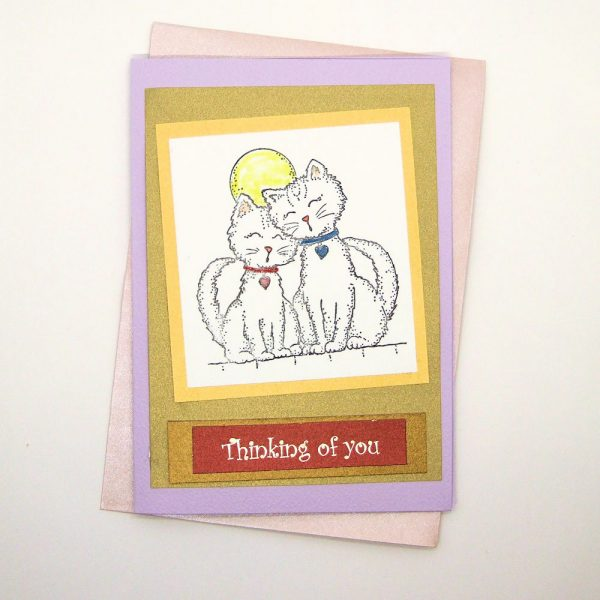 "Handmade ""Thinking of You"" Card - 753 - 753b"