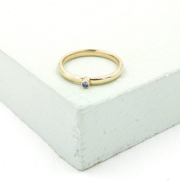 9ct Yellow gold and sapphire stacking ring - 76A94724 9664 4B62 86D5 EA080CF08040