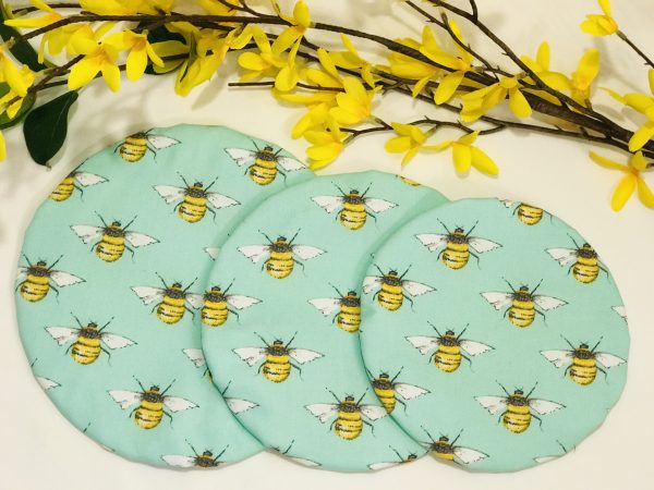 Mila's Reusable Bowl Covers set of 3 - Bees Mint - 7C909895 AE87 49FD 9C2E 3EE41BE2AC21