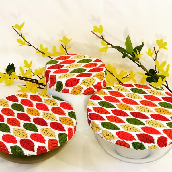 Mila's Reusable Bowl Covers set of 3 -Autumn leaves