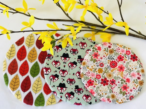Mila's Reusable Bowl Covers set of 3 -Autumn leaves/Foxes/Floral - 873BB247 83FC 4EF2 98AA 8FA104C9A80C