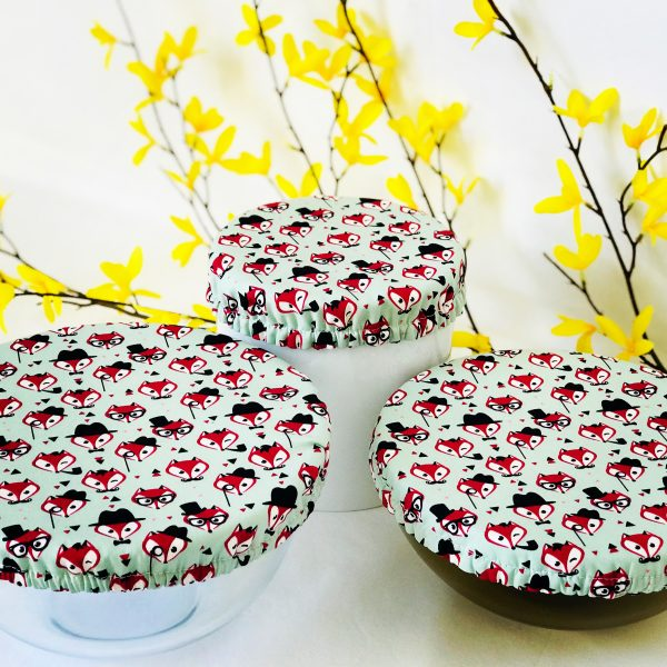 Mila's Reusable Bowl Covers set of 3 -Foxes