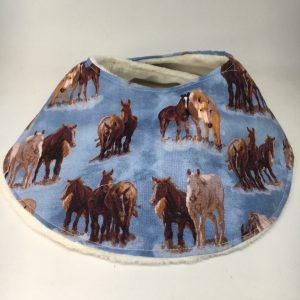 Baby Bib Horse blue