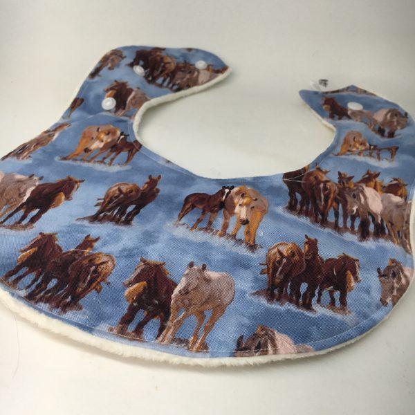 Baby Bib Horse blue - 91622710 033D 40AA AEBE 5B5E21DD04E3 rotated