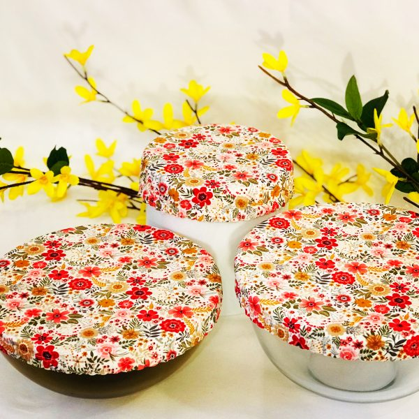 Mila's Reusable Bowl Covers set of 3 Floral
