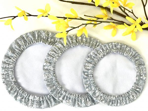 Mila's Reusable Bowl Covers set of 3 -Floral grey/Yellow dots/Pink dots - 994ADA60 10A2 450E BE96 6BA26984A17C