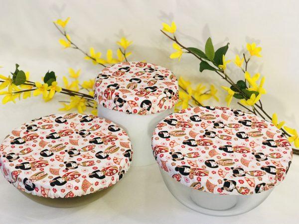 Mila's Reusable Bowl Covers set of 3 - Geisha