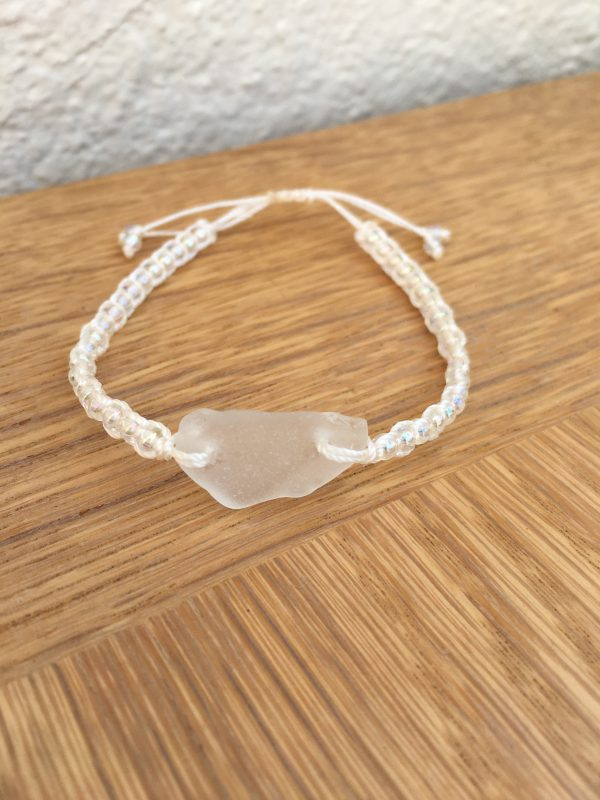 Frosted Sea Glass Macrame Bracelet - AF3F35D1 2219 425B 81BA 774DCEAC64CB rotated