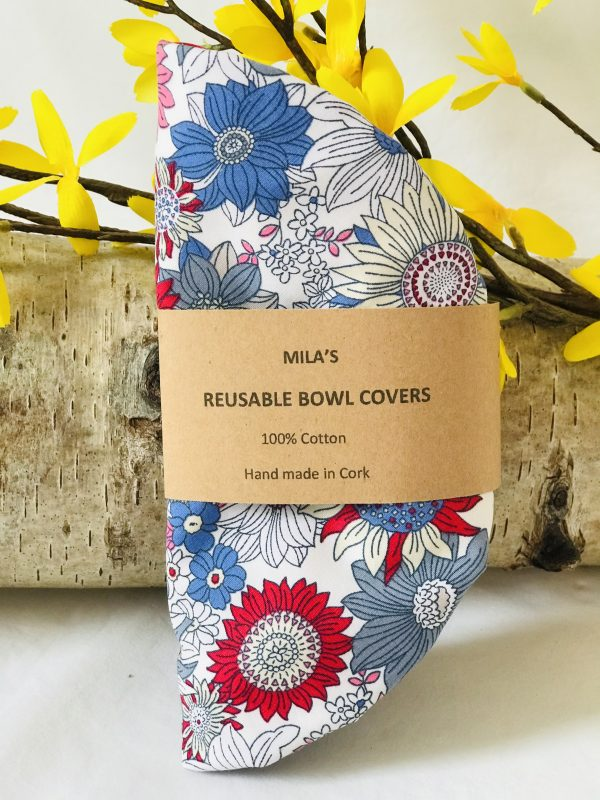 Mila's Reusable Bowl Covers set of 3 Floral Blue - B810E3E7 072A 4C03 B1CB E2058076FA0E