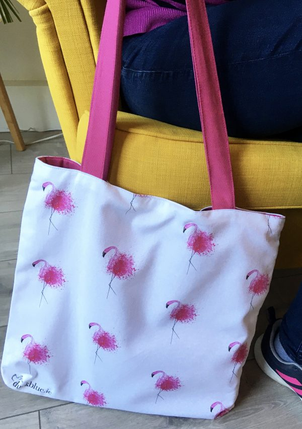 Flamingo Luxury Tote - Bag by chair