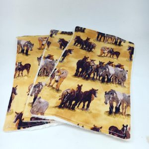 Reusable Wipes Large Horse ( brown)