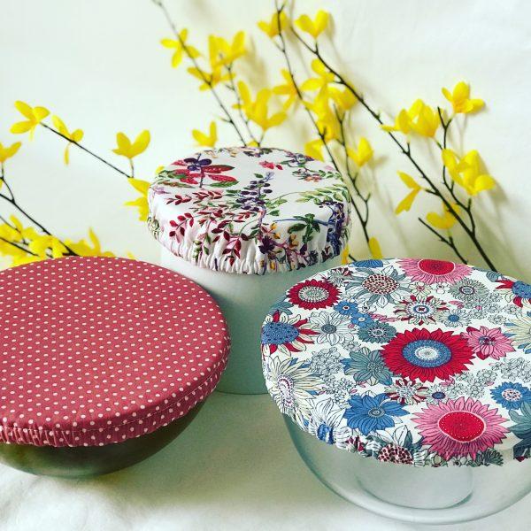 Mila's Reusable Bowl Covers set of 3 Floral blue/Dot/Berries