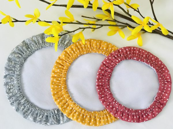 Mila's Reusable Bowl Covers set of 3 -Floral grey/Yellow dots/Pink dots - D452FEBB 2048 4718 9EDC 41D9E3A7187F