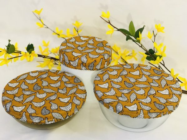Mila's Reusable Bowl Covers set Chickens